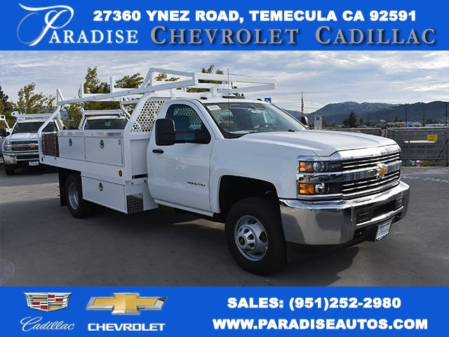 2017 Silverado 3500 Regular Cab DRW 4x2,  Royal Contractor Bodies Contractor Body #M171143 - photo 1