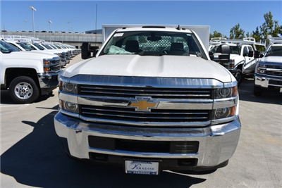 2017 Silverado 3500 Regular Cab DRW, Harbor Black Boss Flatbed Platform Body #M171215 - photo 4