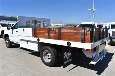 2017 Silverado 3500 Regular Cab DRW, Harbor Black Boss Flatbed Platform Body #M171215 - photo 7