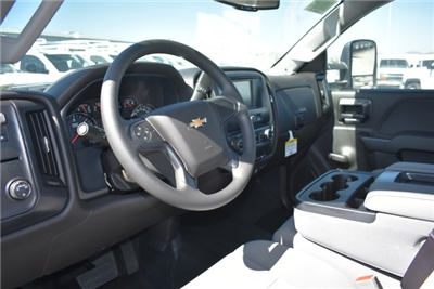 2017 Silverado 3500 Regular Cab DRW, Harbor Black Boss Flatbed Platform Body #M171215 - photo 17