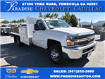 2017 Silverado 3500 Regular Cab DRW, Harbor Black Boss Flatbed Platform Body #M171215 - photo 1