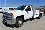 2017 Silverado 3500 Regular Cab DRW, Harbor Black Boss Flatbed Platform Body #M171215 - photo 5