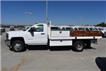 2017 Silverado 3500 Regular Cab DRW, Harbor Black Boss Flatbed Platform Body #M171215 - photo 6
