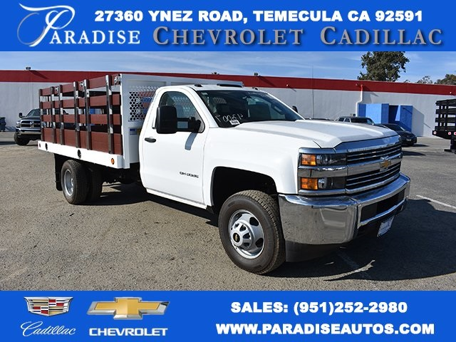 2017 Silverado 3500 Regular Cab DRW, Royal Stake Bed Bodies Flat/Stake Bed #M171247 - photo 1