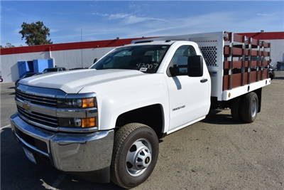 2017 Silverado 3500 Regular Cab DRW, Royal Stake Bed Bodies Flat/Stake Bed #M171247 - photo 5
