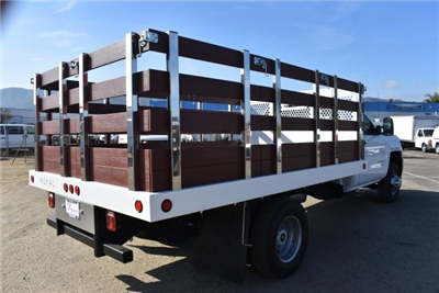2017 Silverado 3500 Regular Cab DRW, Royal Stake Bed Bodies Flat/Stake Bed #M171247 - photo 2