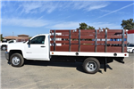 2017 Silverado 3500 Regular Cab DRW, Royal Stake Bed Bodies Flat/Stake Bed #M171247 - photo 6