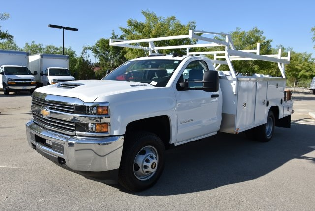 2017 Silverado 3500 Regular Cab DRW 4x4,  Harbor Combo Body #M171257 - photo 5