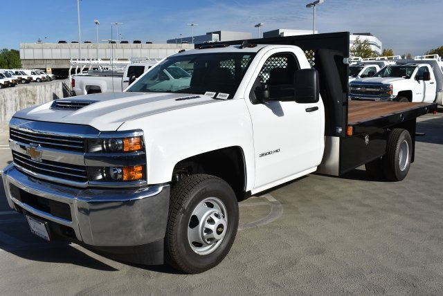 2017 Silverado 3500 Regular Cab DRW 4x2,  Harbor Platform Body #M171546 - photo 5