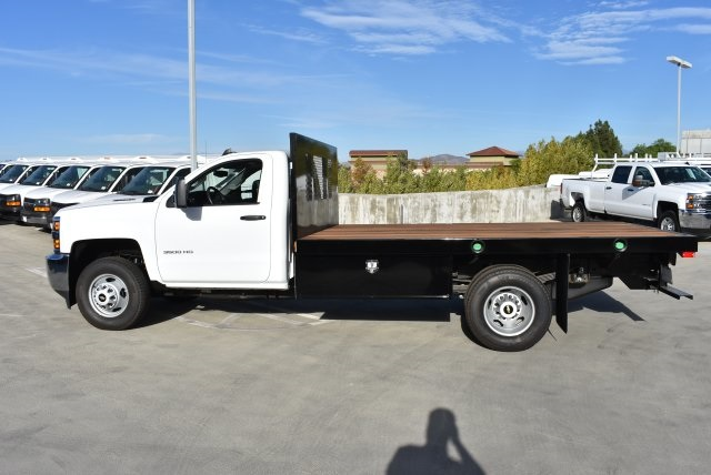 2017 Silverado 3500 Regular Cab DRW 4x2,  Harbor Platform Body #M171546 - photo 6