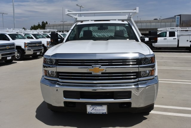 2017 Silverado 3500 Regular Cab DRW 4x2,  Harbor Contractor Body #M171687 - photo 4