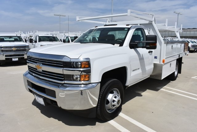 2017 Silverado 3500 Regular Cab DRW 4x2,  Harbor Contractor Body #M171687 - photo 5