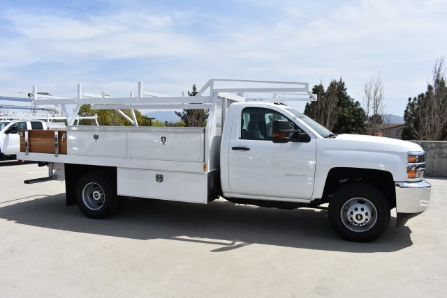 2017 Silverado 3500 Regular Cab DRW 4x2,  Harbor Contractor Body #M171687 - photo 9
