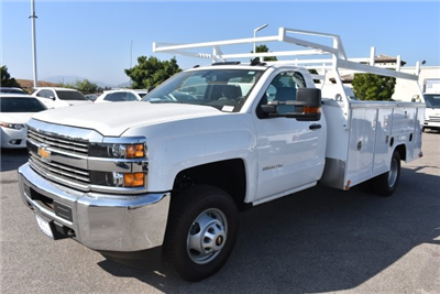 2017 Silverado 3500 Regular Cab DRW 4x2,  Harbor TradeMaster Utility #M17680 - photo 5