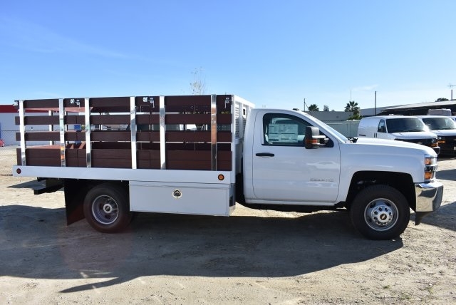 2017 Silverado 3500 Regular Cab DRW,  Royal Flat/Stake Bed #M17752 - photo 9