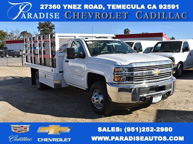 2017 Silverado 3500 Regular Cab DRW,  Royal Stake Bed Bodies Flat/Stake Bed #M17752 - photo 1