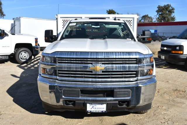 2017 Silverado 3500 Regular Cab DRW,  Royal Stake Bed Bodies Flat/Stake Bed #M17752 - photo 4