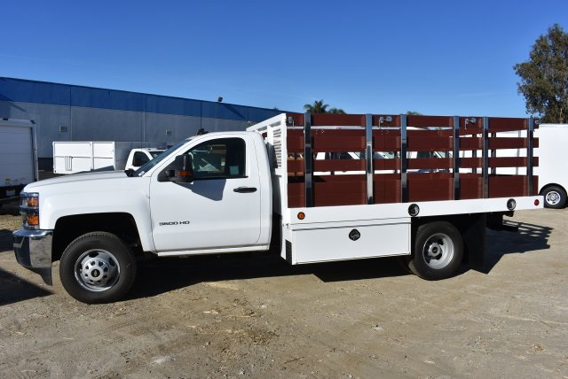 2017 Silverado 3500 Regular Cab DRW,  Royal Flat/Stake Bed #M17752 - photo 6