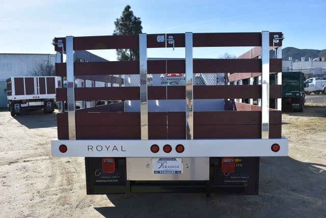 2017 Silverado 3500 Regular Cab DRW,  Royal Stake Bed Bodies Flat/Stake Bed #M17752 - photo 8