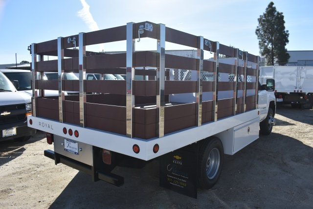 2017 Silverado 3500 Regular Cab DRW,  Royal Stake Bed Bodies Flat/Stake Bed #M17752 - photo 2
