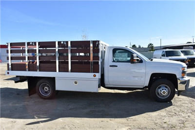 2017 Silverado 3500 Regular Cab DRW,  Royal Stake Bed Bodies Flat/Stake Bed #M17752 - photo 9