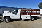 2017 Silverado 3500 Regular Cab DRW,  Royal Stake Bed Bodies Flat/Stake Bed #M17752 - photo 6