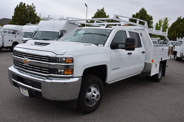 2017 Silverado 3500 Crew Cab DRW,  Harbor Contractor Body #M17783 - photo 5
