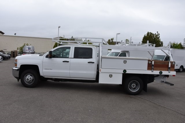 2017 Silverado 3500 Crew Cab DRW,  Harbor Contractor Body #M17783 - photo 6