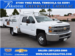 2017 Silverado 3500 Crew Cab DRW,  Harbor Contractor Body #M17783 - photo 1