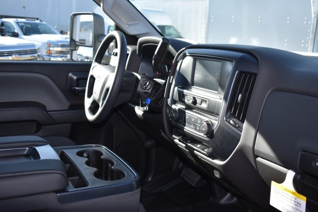 2018 Silverado 3500 Regular Cab DRW 4x2,  Harbor Black Boss Stake Bed Flat/Stake Bed #M18186 - photo 11