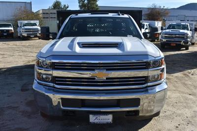 2018 Silverado 3500 Regular Cab DRW 4x2,  Harbor Black Boss Stakebed Flat/Stake Bed #M18186 - photo 4