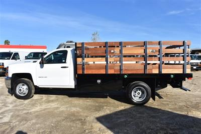 2018 Silverado 3500 Regular Cab DRW 4x2,  Harbor Black Boss Stakebed Flat/Stake Bed #M18186 - photo 6