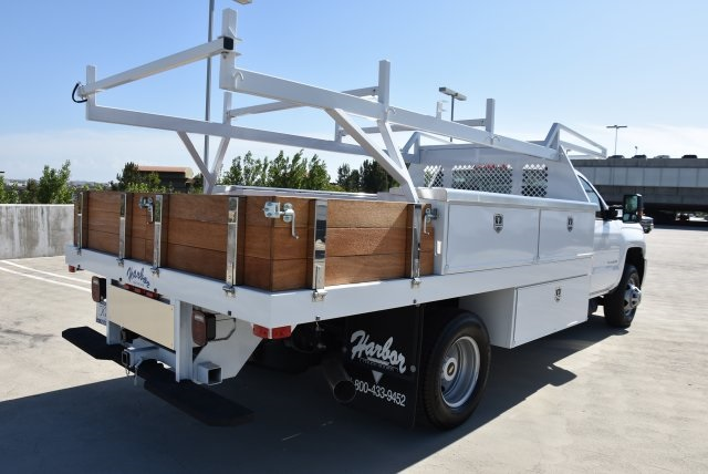 2018 Silverado 3500 Regular Cab DRW 4x2,  Harbor Contractor Body #M18204 - photo 2