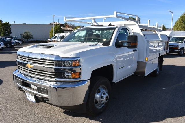 2018 Silverado 3500 Regular Cab DRW 4x2,  Harbor Contractor Body #M18205 - photo 4