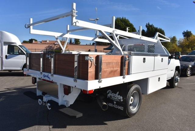 2018 Silverado 3500 Regular Cab DRW 4x2,  Harbor Contractor Body #M18205 - photo 2