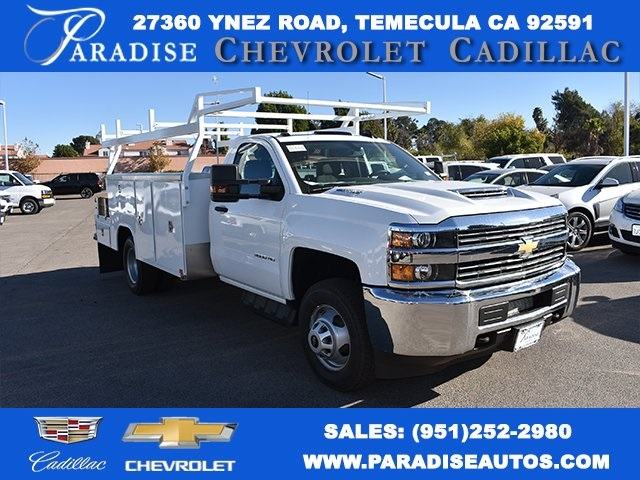 2018 Silverado 3500 Regular Cab DRW 4x2,  Harbor ComboMaster Combo Body #M18209 - photo 1
