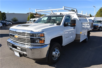 2018 Silverado 3500 Regular Cab DRW, Harbor Standard Contractor Contractor Body #M18214 - photo 4