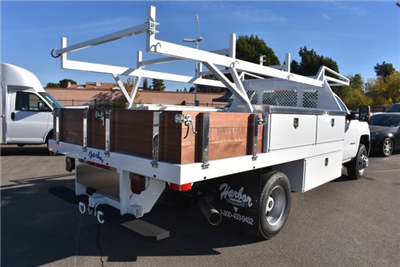 2018 Silverado 3500 Regular Cab DRW, Harbor Standard Contractor Contractor Body #M18214 - photo 2