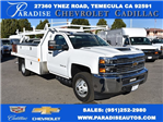 2018 Silverado 3500 Regular Cab DRW, Harbor Standard Contractor Contractor Body #M18214 - photo 1