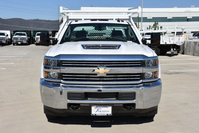 2018 Silverado 3500 Regular Cab DRW 4x2,  Harbor Contractor Body #M18215 - photo 4