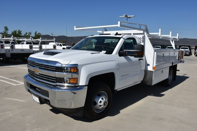 2018 Silverado 3500 Regular Cab DRW 4x2,  Harbor Contractor Body #M18215 - photo 5