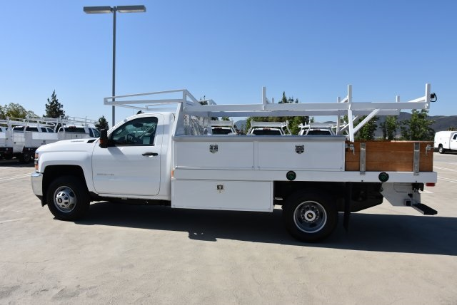 2018 Silverado 3500 Regular Cab DRW 4x2,  Harbor Contractor Body #M18215 - photo 6