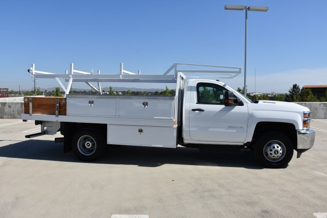 2018 Silverado 3500 Regular Cab DRW 4x2,  Harbor Contractor Body #M18215 - photo 8