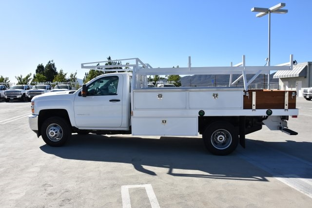 2018 Silverado 3500 Regular Cab DRW 4x2,  Harbor Contractor Body #M18254 - photo 7