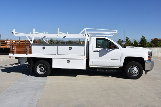 2018 Silverado 3500 Regular Cab DRW 4x2,  Harbor Contractor Body #M18254 - photo 10