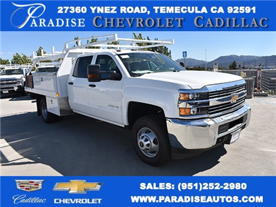 2018 Silverado 3500 Crew Cab DRW, Harbor Standard Contractor Contractor Body #M18331 - photo 1