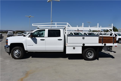 2018 Silverado 3500 Crew Cab DRW, Harbor Standard Contractor Contractor Body #M18331 - photo 6