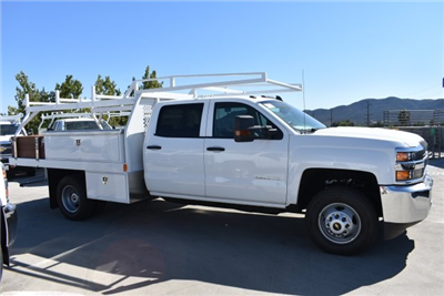 2018 Silverado 3500 Crew Cab DRW, Harbor Standard Contractor Contractor Body #M18331 - photo 9