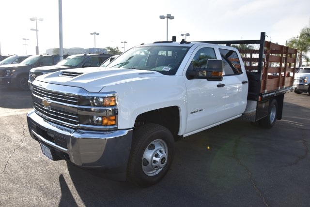 2018 Silverado 3500 Crew Cab DRW 4x2,  Martin's Quality Truck Body Flat/Stake Bed #M18356 - photo 5