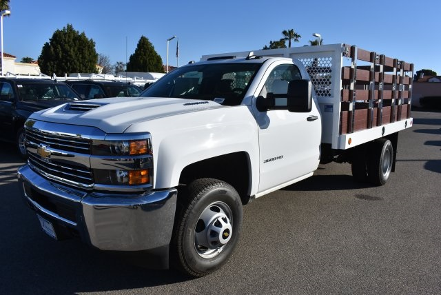 2018 Silverado 3500 Regular Cab DRW 4x2,  Royal Flat/Stake Bed #M18404 - photo 5